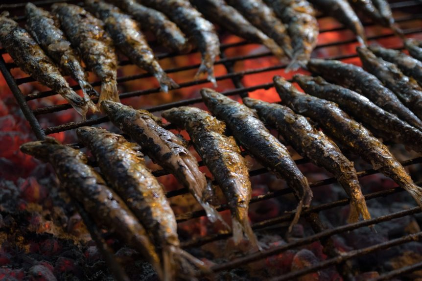 Delicious grilled sardines Portuguese recipe