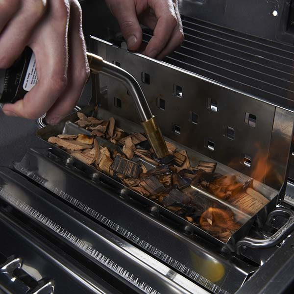 Broil King Apple Wood Chips on grill