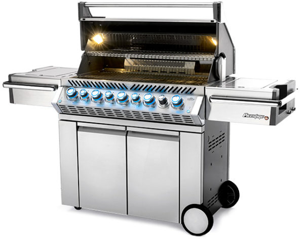 Grill with lights