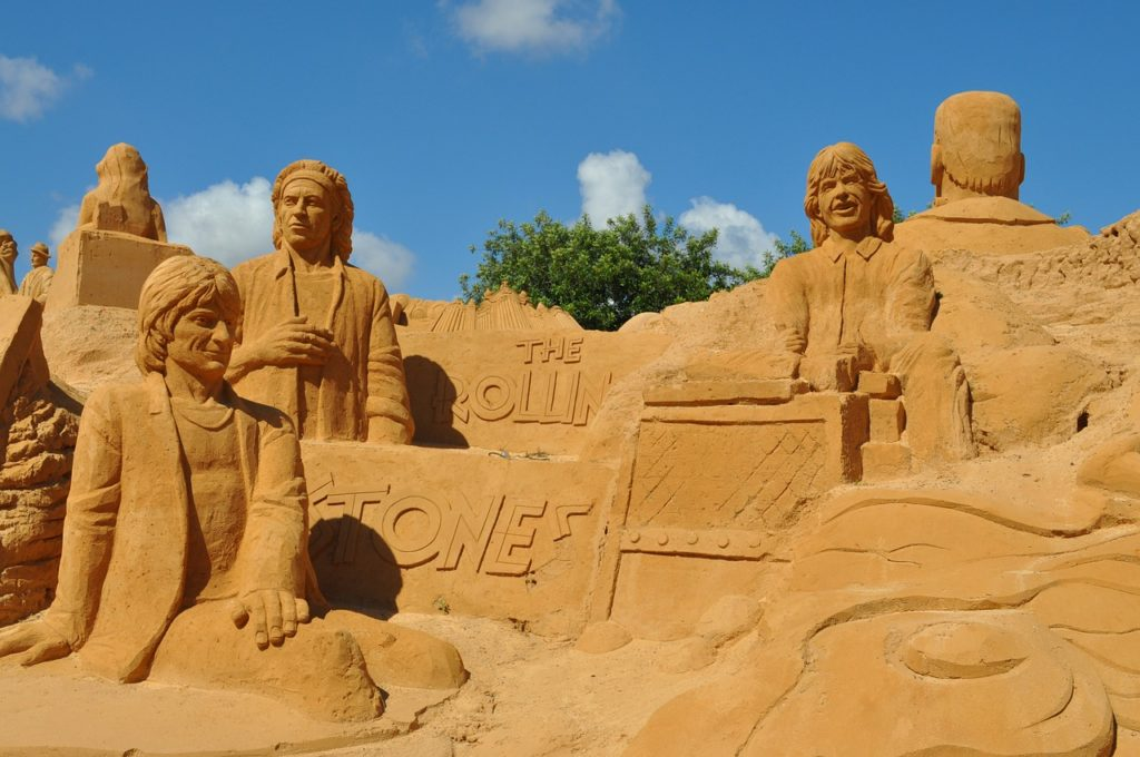 A Sand Castle build in Algarve during summer