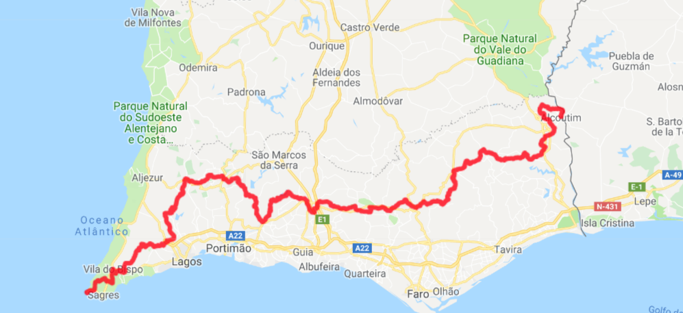 Via Algarviana route