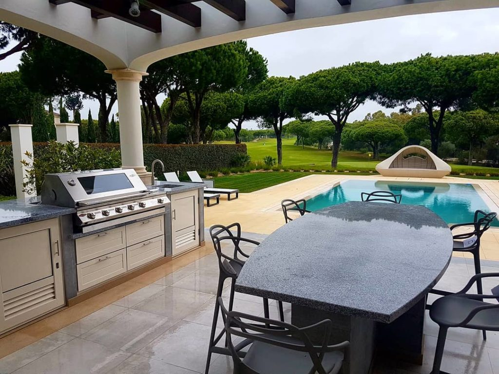 Barbecue area in Quinta do Lago