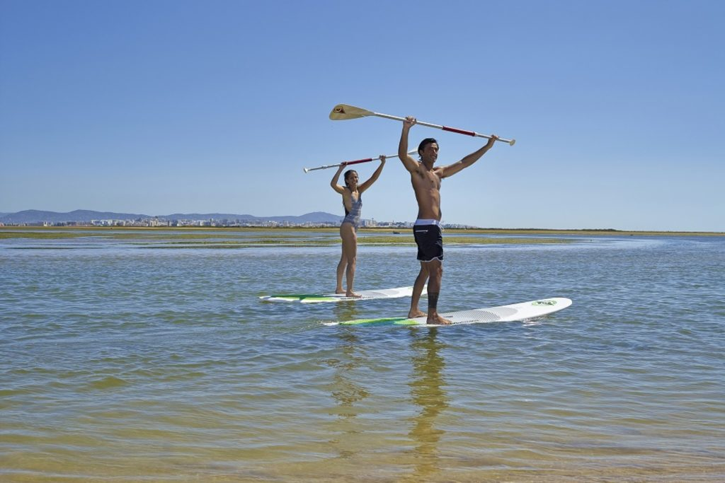 Paddle surf in Olhao, Algarve