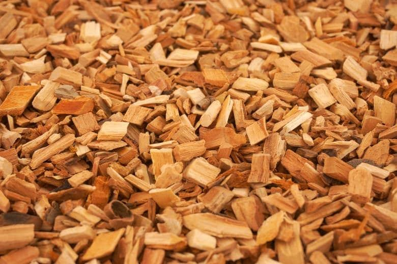 Wood chips for smoking on a gas grill