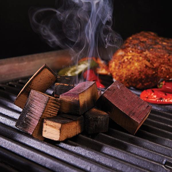 um barrel wood chunks for smoking on a gas grill
