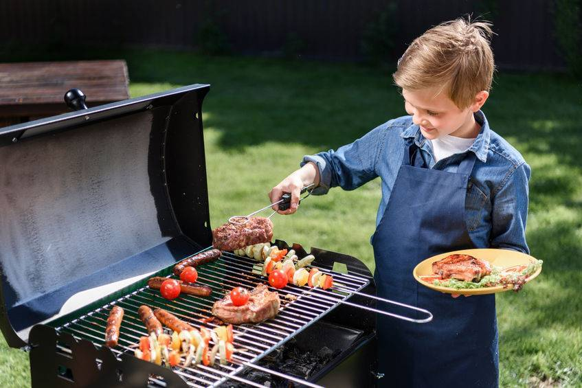 grilling with your kids