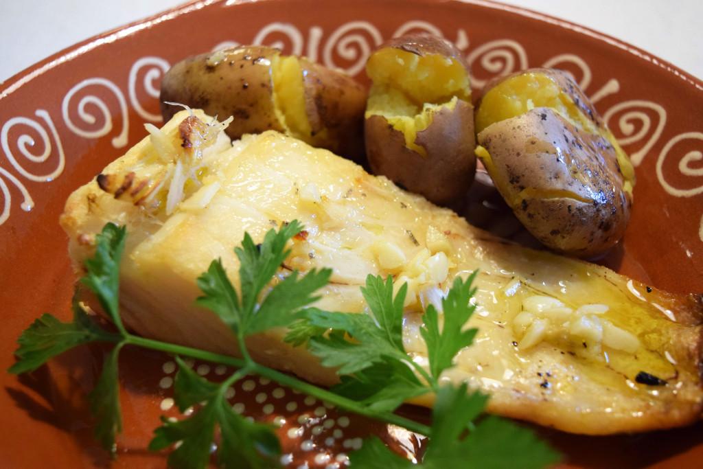 Portuguese grilled codfish recipe