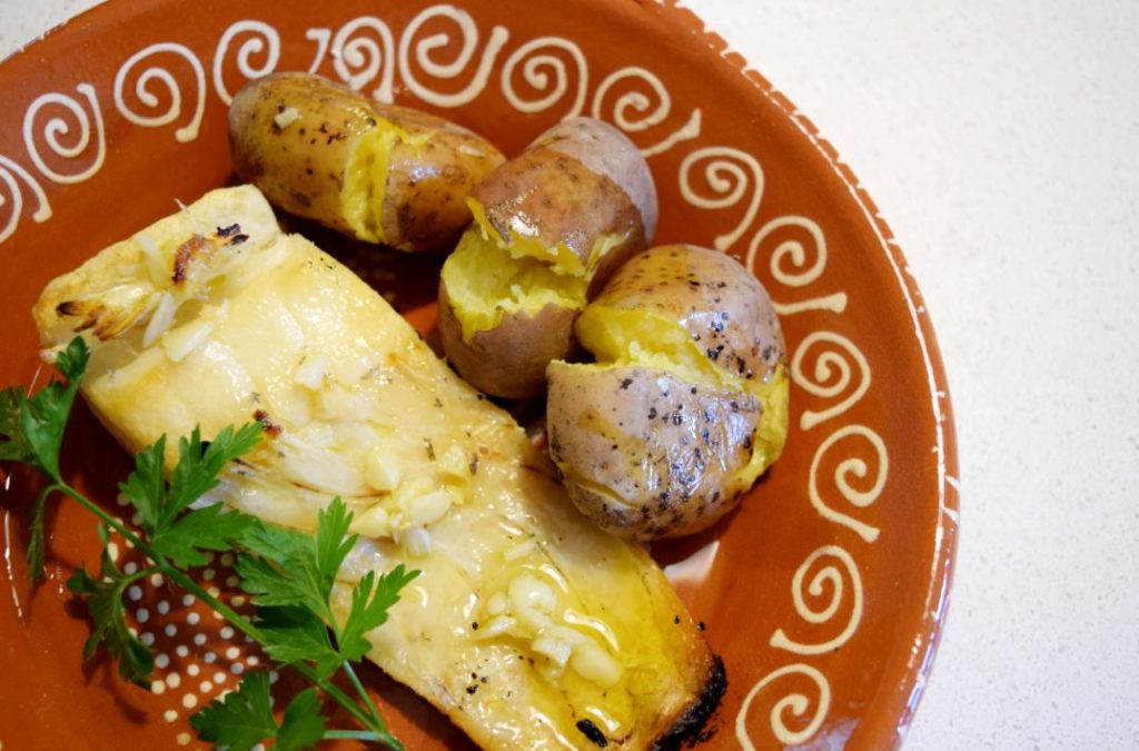 Portuguese grilled codfish recipe