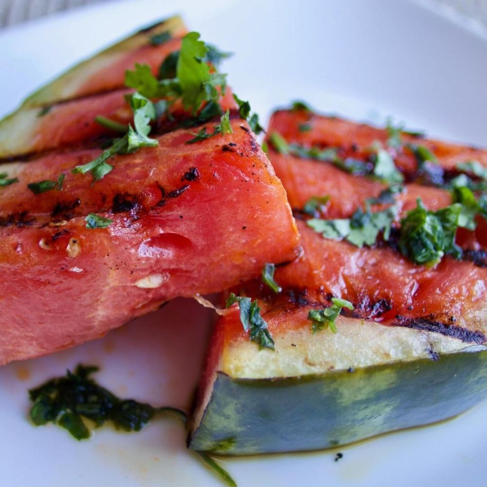 Grilled watermelon as a dessert you can cook on the grill