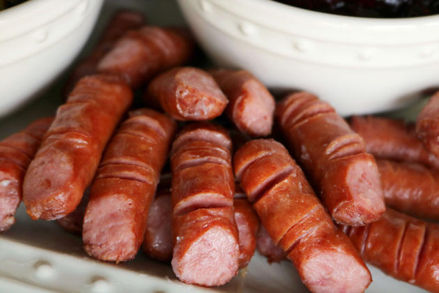 BBQ ideas for your Halloween party like this dead man fingers