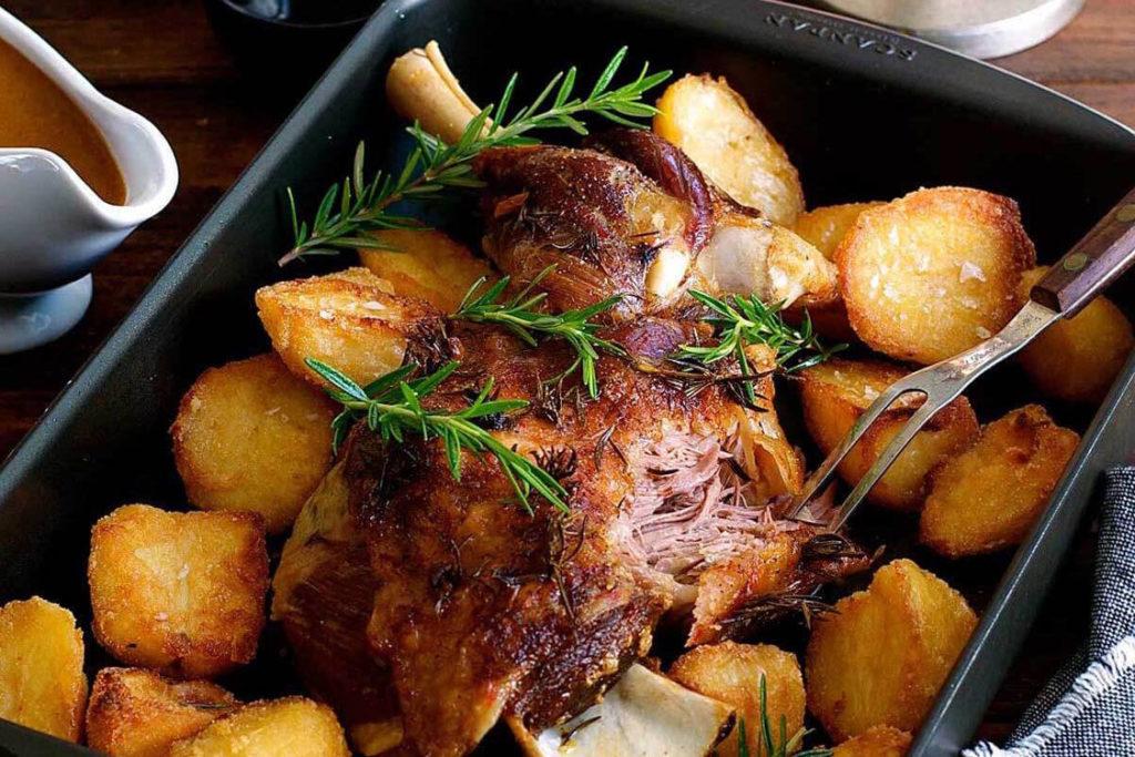 cabrito assado no forno is a Portuguese food for Christmas