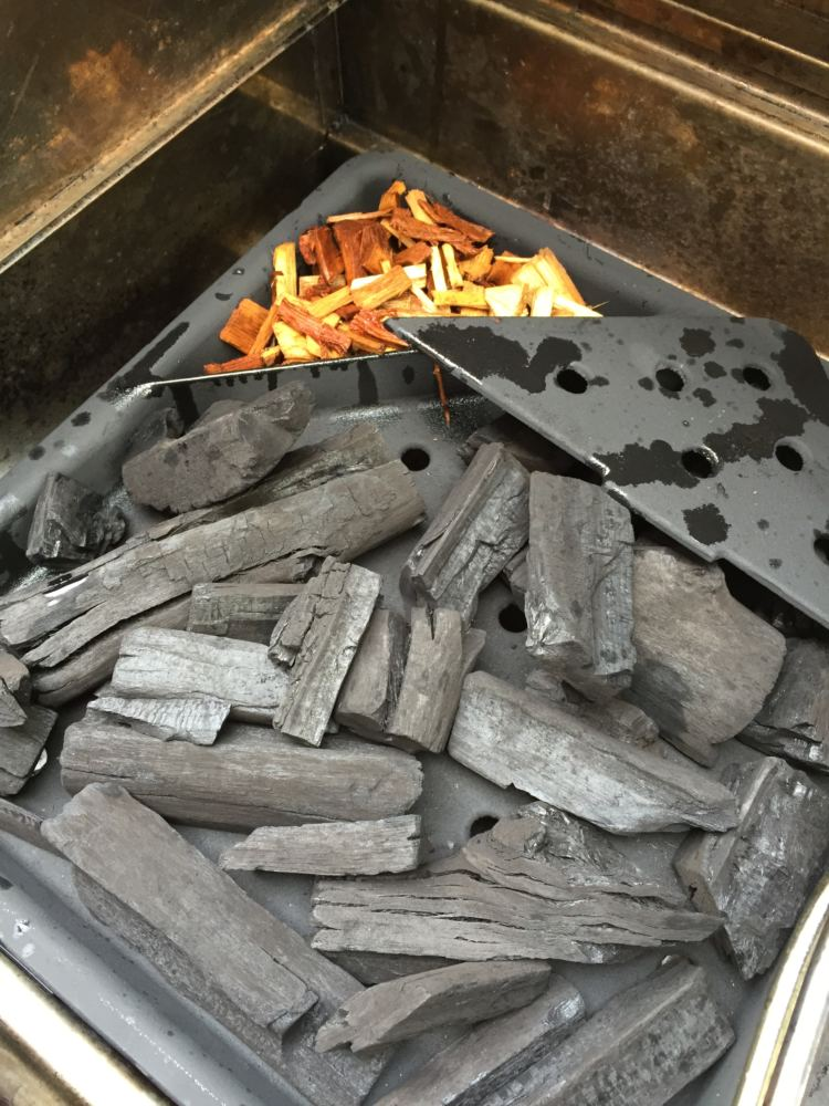use charcoal and wood chips in gas grill