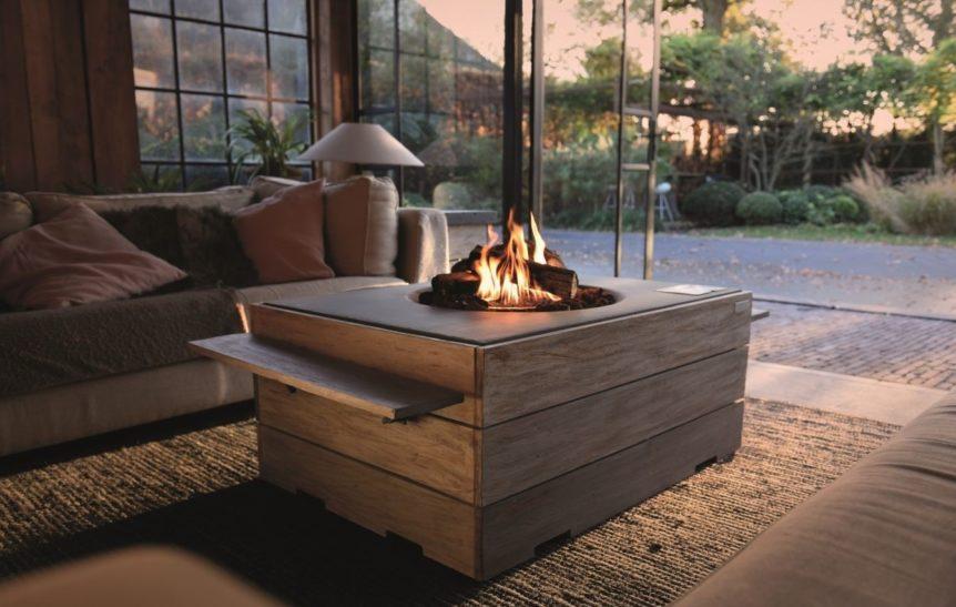 Napoleon Hampton Rectangular Patio Flame Table a patio heater in algarve